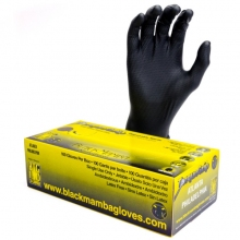 Black Mamba Torque Grip Nitrile Gloves Size: Medium 100/ Box